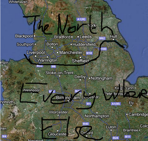 The North - a map