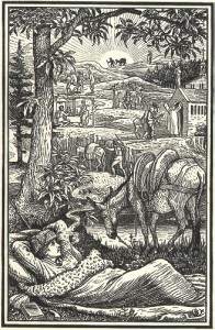 Frontpiece from the first edition of Travels with a Donkey in the Cévennes (1879)