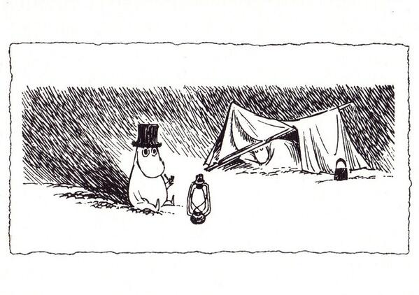 Moominpappa and his tent