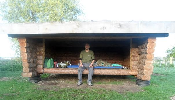 Wild camping at Wicken Fen
