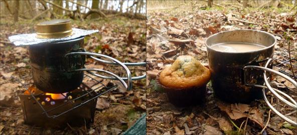 Wild camp breakfast