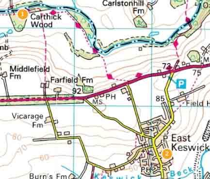 East Keswick OS map