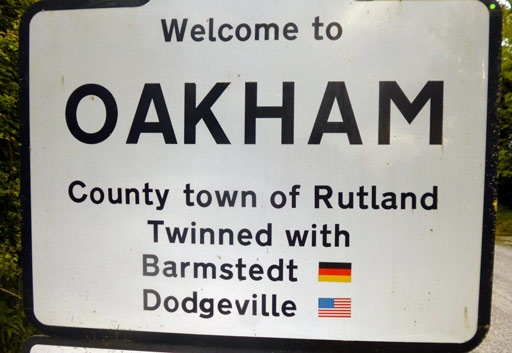 Oakham, twinned with Dodgeville