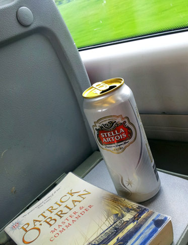 On the train home with Ms Artois