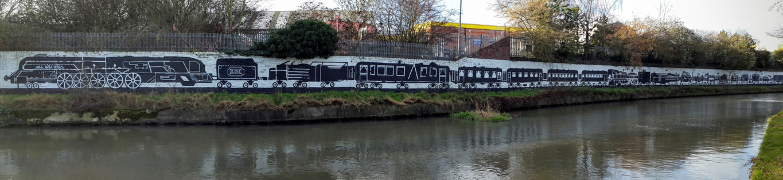Wolverton Train Mural