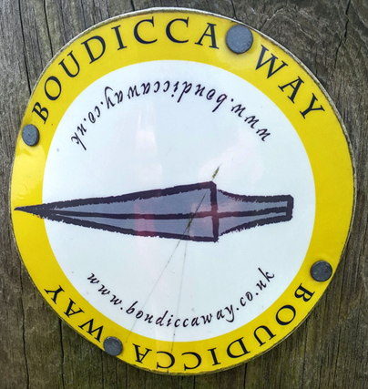 Boudicca Way marker
