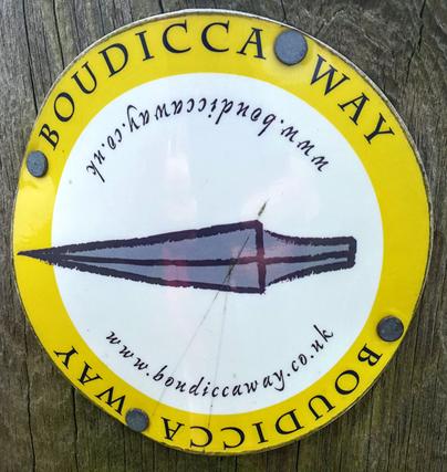 Boudicca Way marker