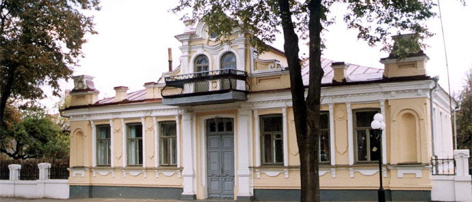 The balcony in Poltava from which Adolf Hitler made a speech (1942)