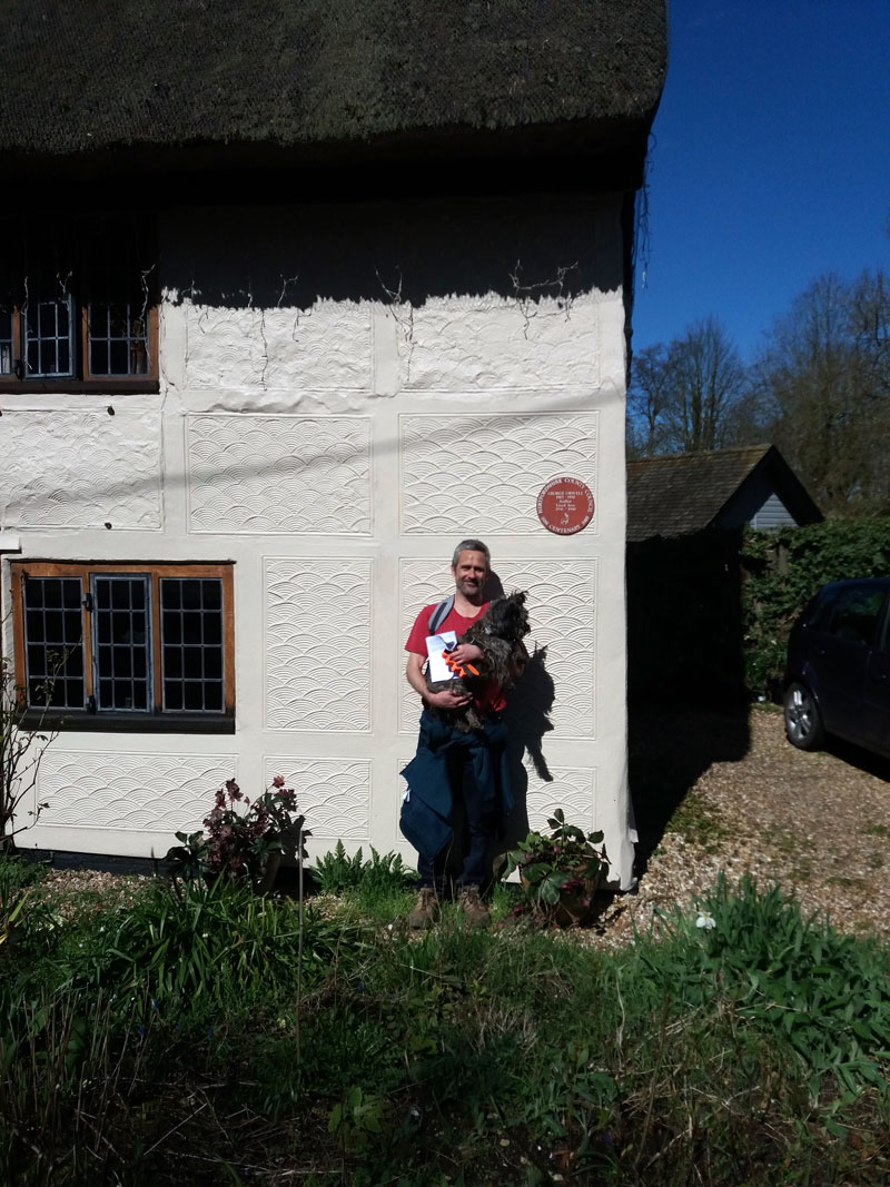 Smithy and I at Orwell's cottage
