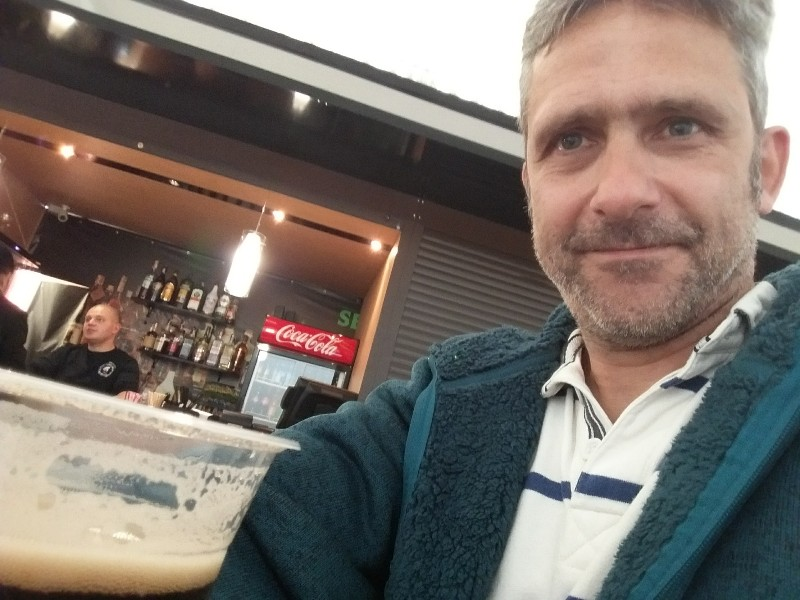 Odesa airport bar selfie